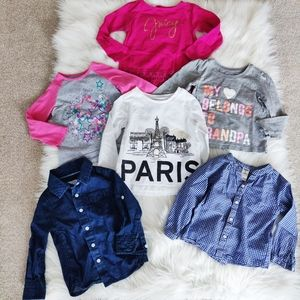 Bundle of toddler size 2 tops